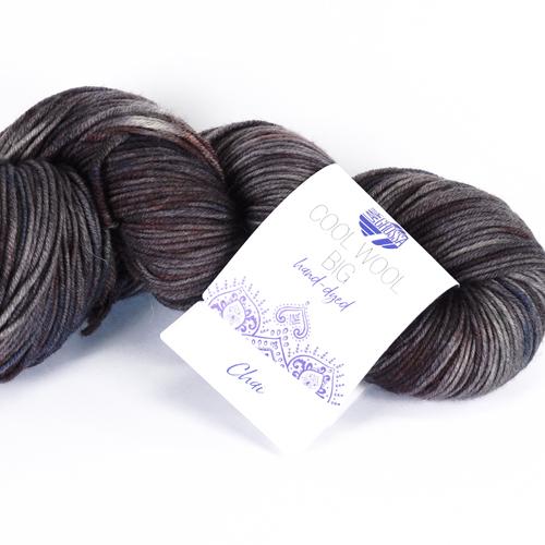 LANA GROSSA Cool Wool Big Hand-Dyed 100g, Farbe 206 chai - petroö/mint/anthrazit