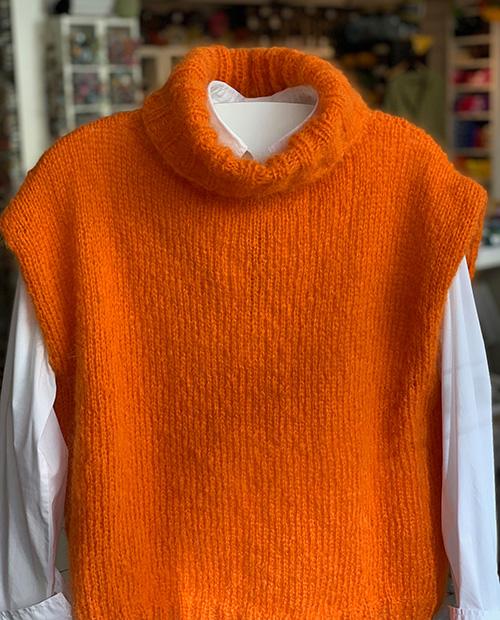 Strickpaket Holly-Slipover (Farbe 1 orange)