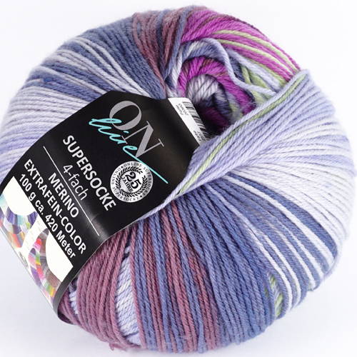 ONLINE Supersocke 4-fach Merino Extrafein-Color Sort 297  100g, Farbe 2557