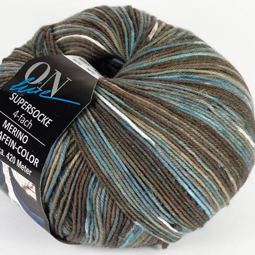 ONLINE Supersocke 4-fach Merino Extrafein Color 100g, Farbe 2609