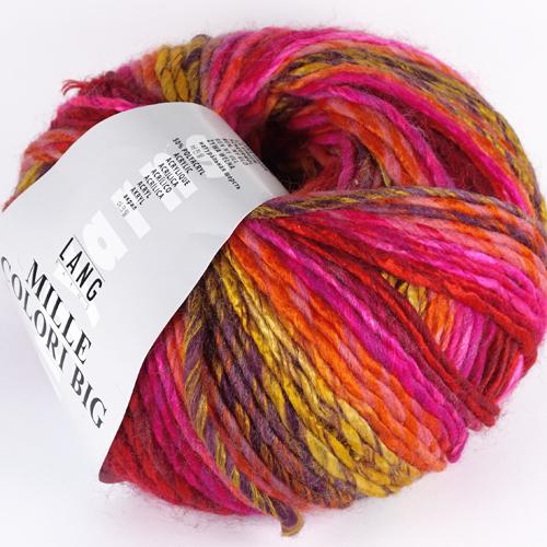 LANGYARNS Mille Colori Big 200g, Farbe  60 rot/orange/pink