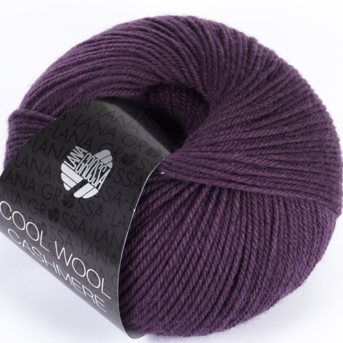 LANA GROSSA Cool Wool Cashmere 50g, Farbe 37 aubergine