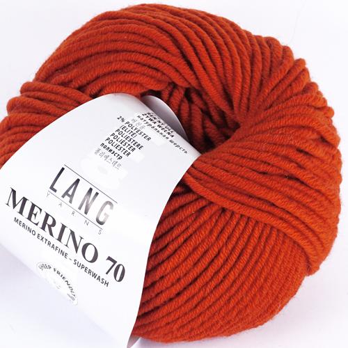 LANGYARNS Merino 70 50g, Farbe 175 braunorange