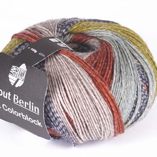 634 Taupe/Anthrazit/Senf/Mint/Ziegelrot meliert