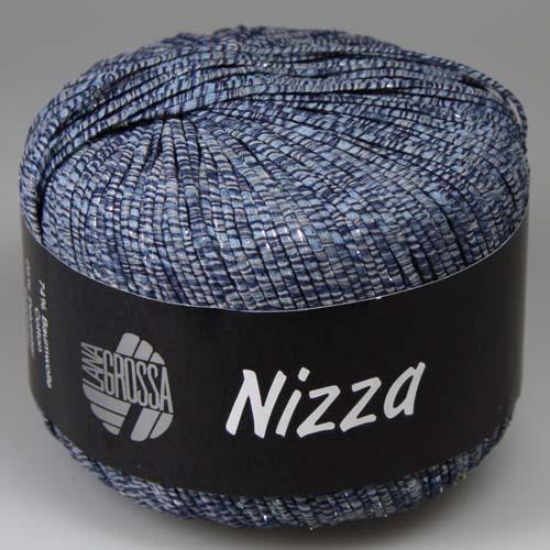 LANA GROSSA Nizza 50g Farbe 6 Graublau/Marine/Silber