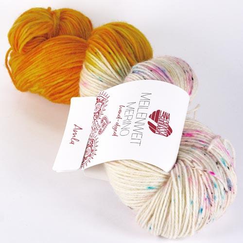 LANA GROSSA Hand-Dyed Meilenweit Merino 100g Farbe 2 amla