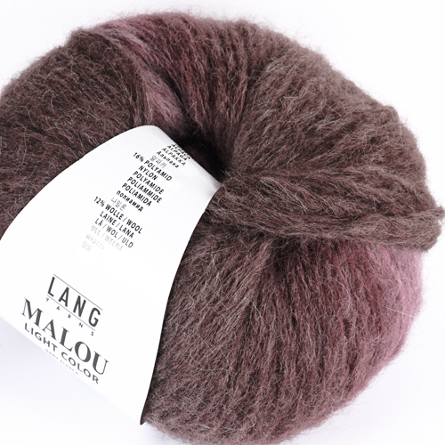 LANGYARNS Malou Light Color 50g, Farbe 80 aubergine