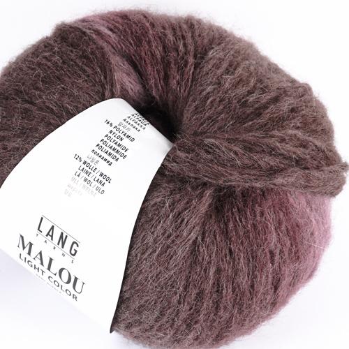 LANGYARNS Malou Light Color 50g, Farbe 80 aubergine
