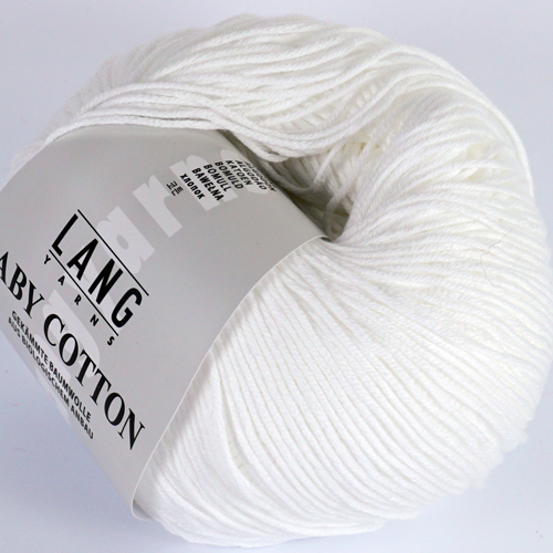 LANGYARNS Baby Cotton 50g Farbe 1 weiß
