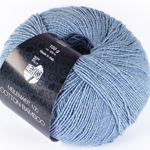 LANA GROSSA Meilenweit 100 Cotton Bamboo 100g Farbe 12 hellblau