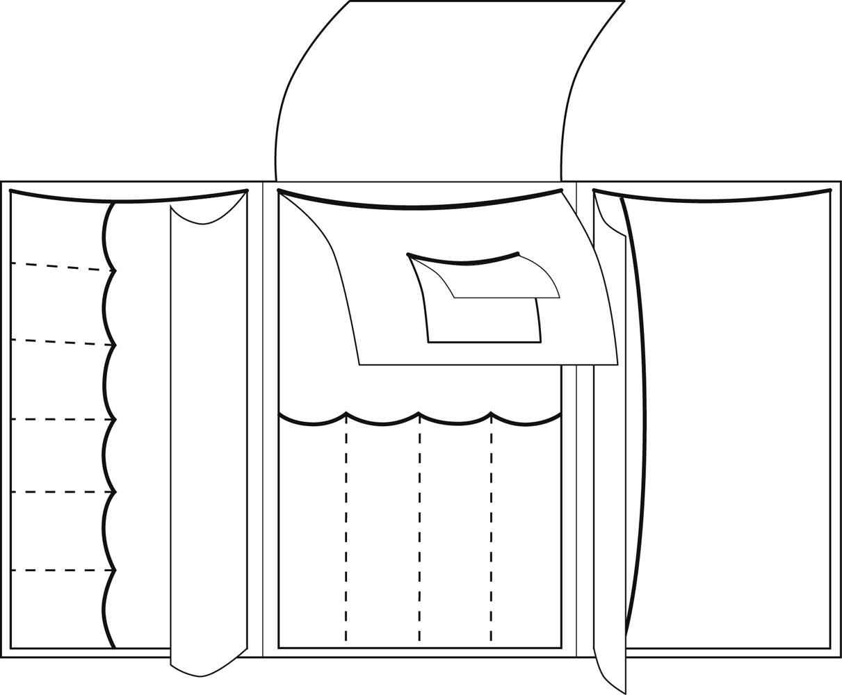 ChrisDESIGN Nadeltasche LIE, optimal für Schraubsysteme, Farbe schwarz/gelborange