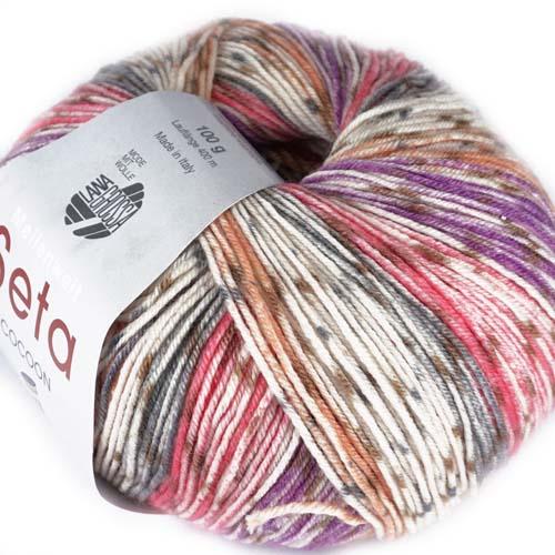 3352 Grau/Rot/Violett/Rost/Ecru/Khaki