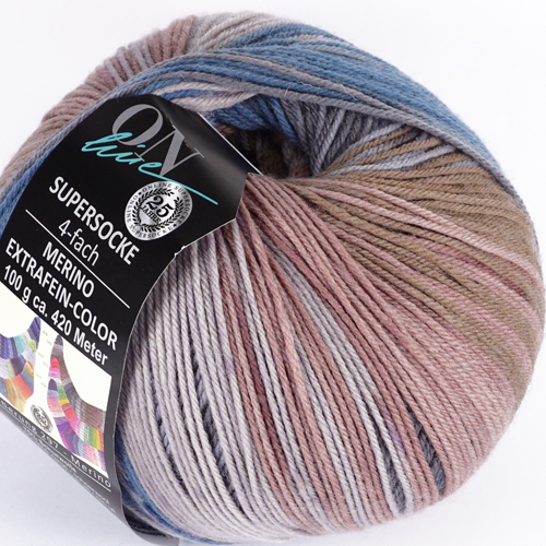 ONLINE Supersocke 4-fach Merino Extrafein-Color Sort 297  100g, Farbe 2560
