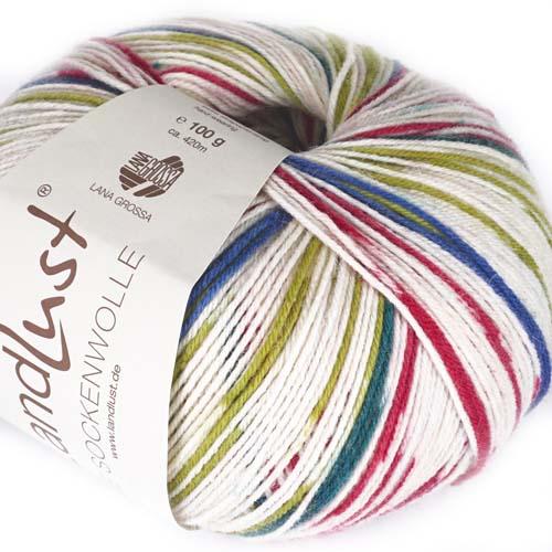 LANA GROSSA Landlust Die Sockenwolle 100g Farbe 603 bunte Striche