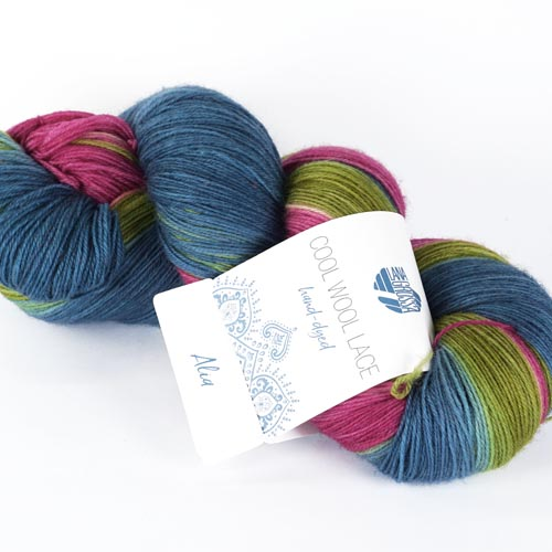 LANA GROSSA Cool Wool Lace hand-dyed 100g Farbe 803 alia