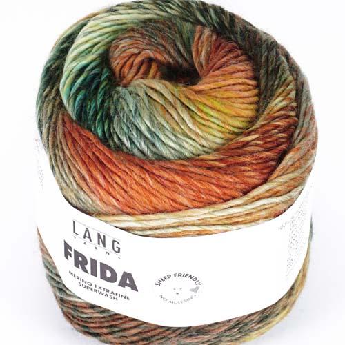 LANGYARNS Frida 100g Farbe  2 rost/hellgrün