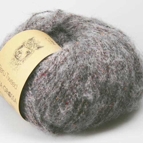 LANA GROSSA Peru Tweed 50g Farbe 4 grau