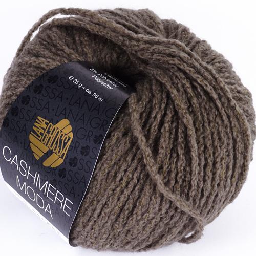 LANA GROSSA Cashmere Moda 25g, Farbe 7 grau/braun