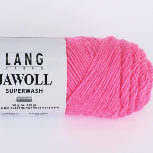 LANGYARNS Jawoll uni 50g, Farbe 385 pink neon