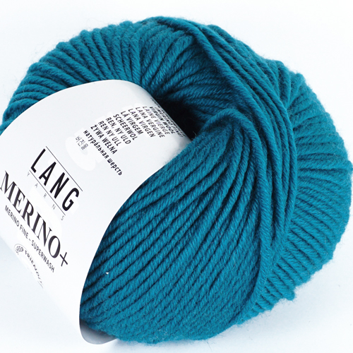 LANGYARNS Merino + 50g, Farbe 272 dunkeltürkis