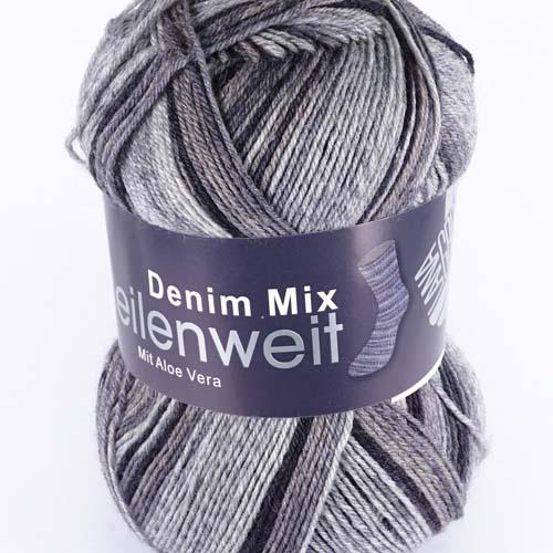 LANA GROSSA Meilenweit Denim Mix 100g Farbe 7814 Anthrazit/Mittel-/Dunkelgrau/Graubraun